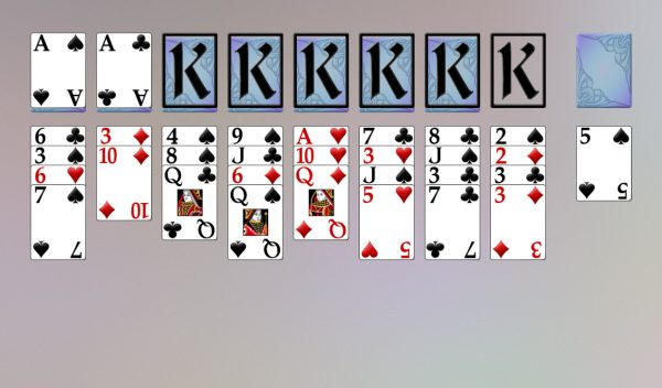 topsy turvy queens solitaire