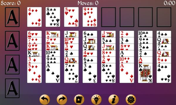 how to play eight off solitaire