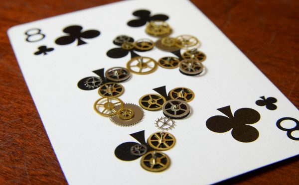 Playing Card 8 of Club Gears