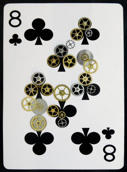 Playing Card Art 8Clubs